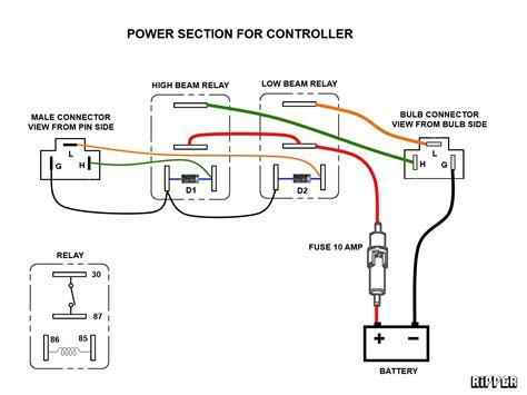 Tiger 1050 Wiring Power Schematic by Headl Improvements Triumph Forum Triumph Rat