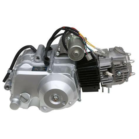 pit bike motor lifan 125cc semi auto clutch engine motor pit pro trail dirt bike atomik silver ebay