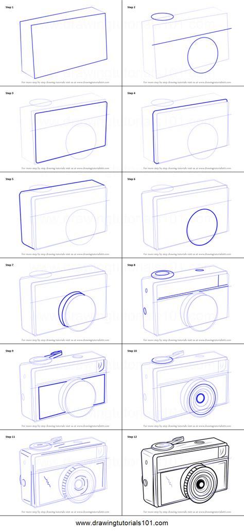 draw  vintage camera printable step  step