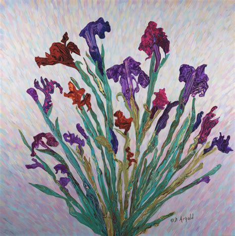 The Floral Paintings Exhibited In Group Exhibition At