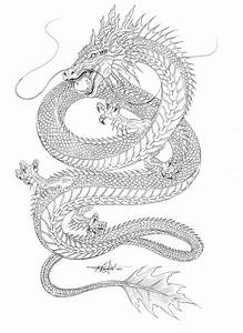 Kind of liking the shape... Water Dragon outline by ...