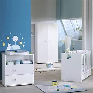 Chambre De Bébé Ikea : chambre b b trio nino lit commode armoire de sauthon ~ Premium-room.com Idées de Décoration