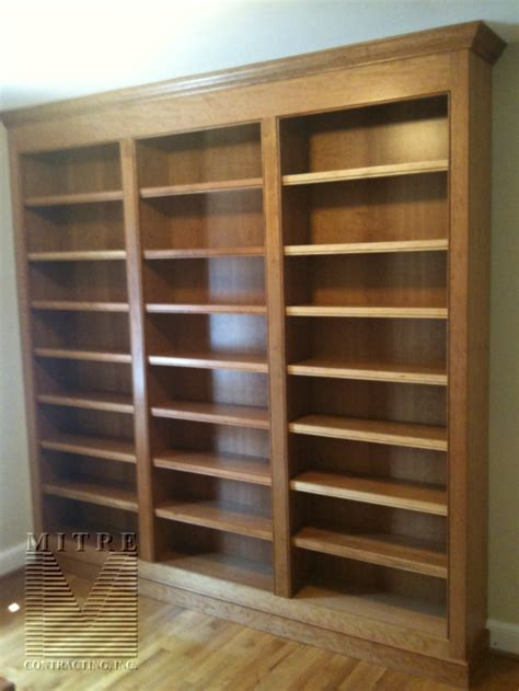 built ins bookcases continued mitre contracting