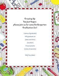 graduation free suggested wording by theme geographics 536   Kindergarten Graduation Invitation Free Template Image Geographics 6 M