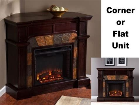 Adjustable Electric Corner / Flat Fireplace Mantle