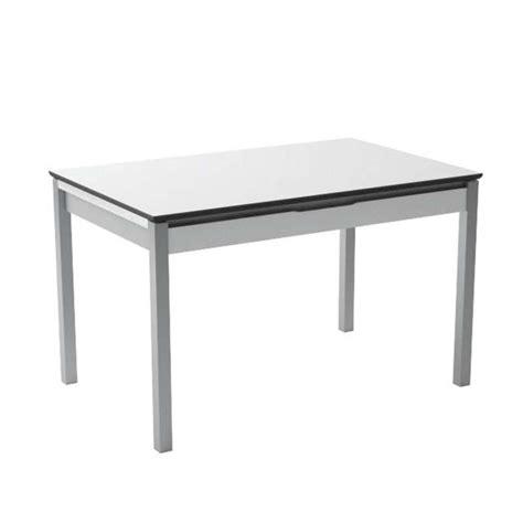 table cuisine largeur table de cuisine en mélaminé blanc extensible avec