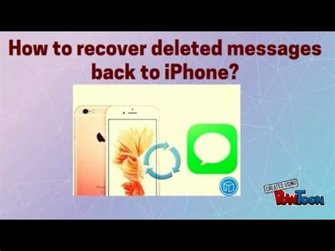 how to get back deleted photos on iphone how to recover deleted messages back to iphone