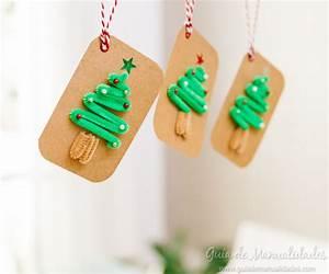 Etiquetas con limpiapipas para decorar la Navidad Guía