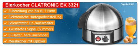 eierkocher ohne messbecher clatronic ek 3321 edelstahl eierkocher f 252 r 1 7 eier kocher eier kocher eipicker