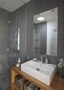 Salle De Bain Grise Et Bois : id e d coration salle de bain gris et bois pour une ~ Melissatoandfro.com Idées de Décoration