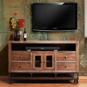 International, Furniture, Direct, Urban, Gold, 1306279, 62, U0026quot, Solid, Wood, Tv, Stand