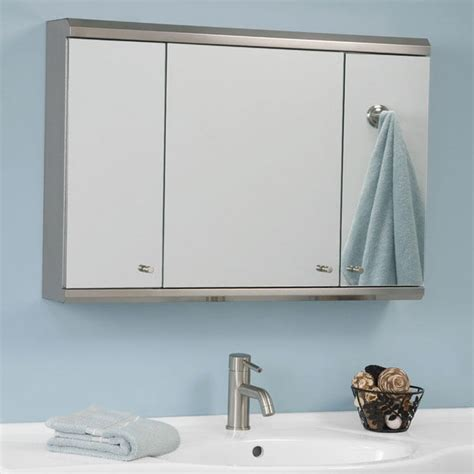 Tri Fold Mirror Medicine Cabinet Home Design Ideas