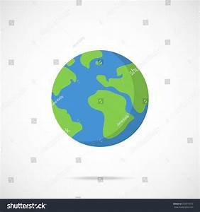 Vector Planet Earth Icon. Flat Planet Earth Icon. Flat ...