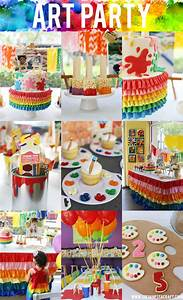 Party: Art Themed Painting Birthday - See Vanessa Craft