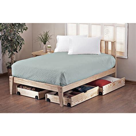 pine rock platform queen bed frame  bedroom sets  sportsmans guide