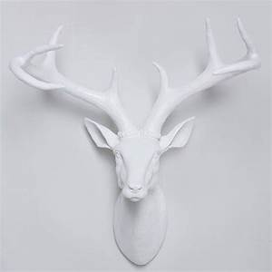White large resin deer head stag wall hanging home decor