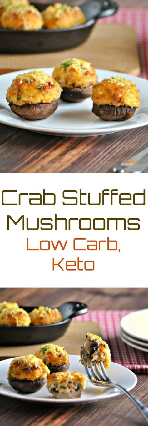 Place the crabmeat in a large bowl and season with the essence. Crab Stuffed Mushrooms with Bacon | Recipe | Low carb stuffed mushrooms, Crab stuffed mushrooms ...