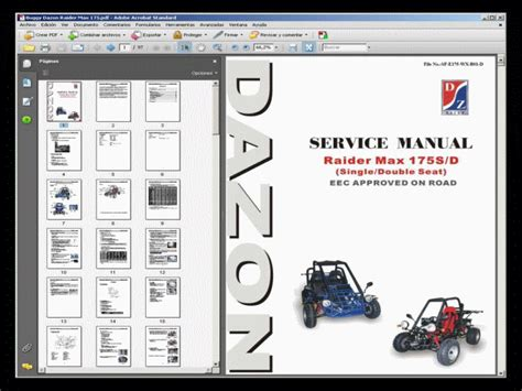 dazon max 175 buggy service manual wiring diagram