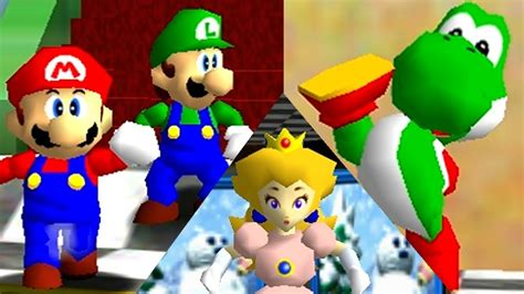 Super Mario 64 Online All Characters Mod Youtube
