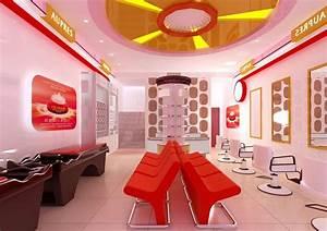 Beauty salon reception room interior design d house
