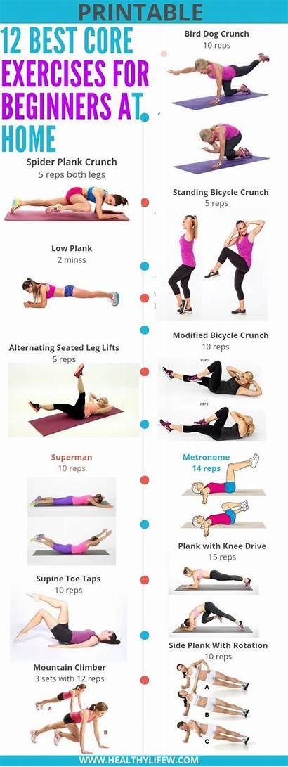 Exercises Core Beginners Workout Beginner Workouts Basic