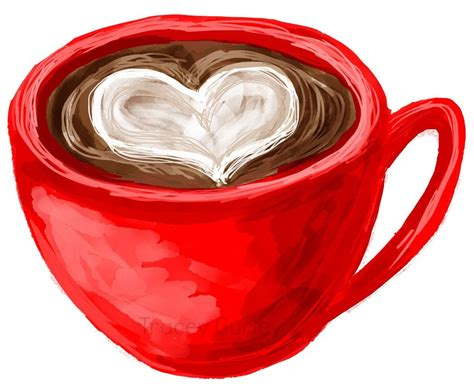 Check out our coffee heart clipart selection for the very best in unique or custom, handmade pieces from our digital shops. Coffee with Heart Illustration Original Art Digital Download