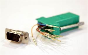 Buy Green Dsub 9 Pin Db9 Female To Rj12 6p6c Female