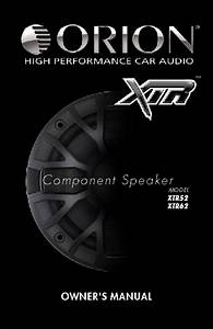 Component Speaker Xtr52 Manuals