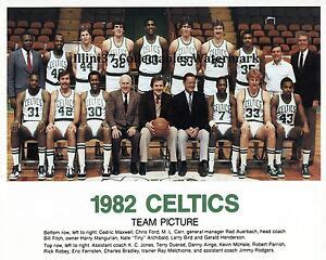 1981-1982 BOSTON CELTICS 8X10 TEAM PHOTO BIRD AINGE PARISH ...