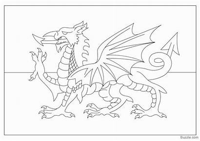 Coloring Flag Colouring Wales Welsh Ireland Dragon