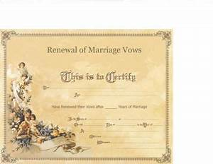 marriage vow renewal certificate my fake wedding With vow renewal certificate template