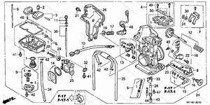 Honda Atv 2007 Oem Parts Diagram For Carburetor   U0026 39 06