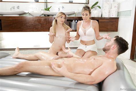 Jane Wilde Gives Nuru Massage With Brett Rossi Coed Cherry