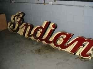 Antique Indian Motorcycle Neon Sign Mint