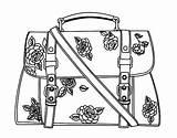 Handbag Purse Coloring Template sketch template
