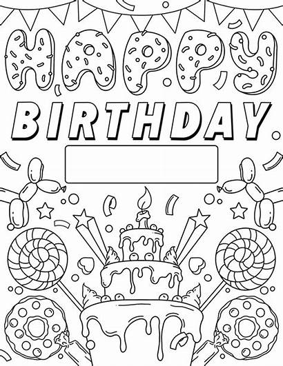 Coloring Birthday Happy Printable Crayola Signs Colouring