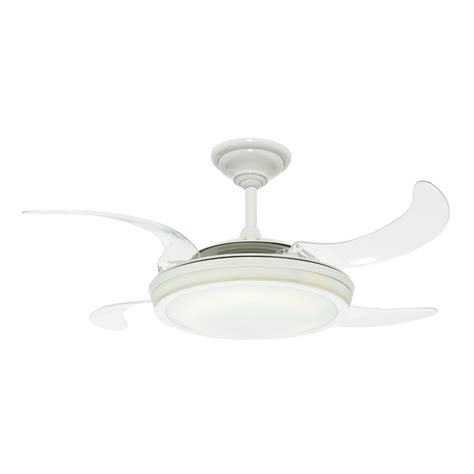 Fanaway Retractable Blade Ceiling Fans by Shop Fanaway Retractable Blade 48 In White Downrod