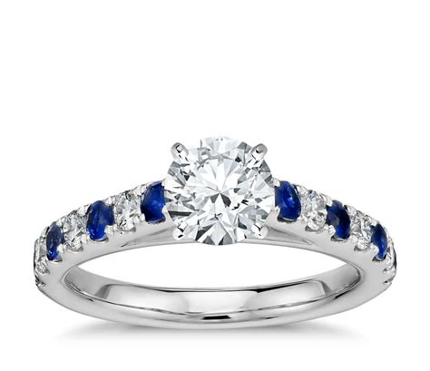 riviera pav 233 sapphire and engagement ring in