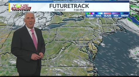 Weather forecast for Central Pennsylvania. Turning milder ...