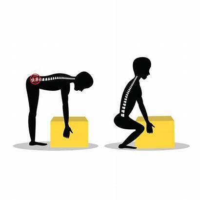 Safe Lifting Clip Illustrations Heavy Box Handling