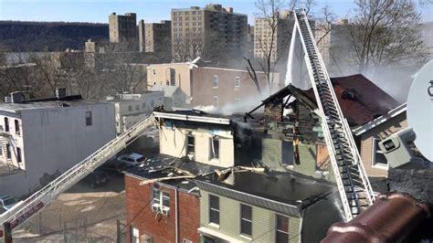 yonkers fire department battling   alarm fire