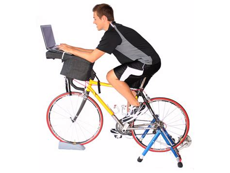 laptop workout desk and recumbent bike fitdesk lets you pedal your way to fitness while you work