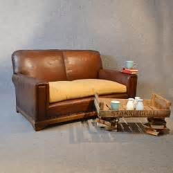 How To Clean A Leather Settee by Sofa Vintage Leather Antique 2 Seater Club Settee