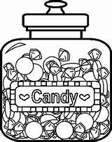 Coloring Candy Pages Jar Wonka Printable Colouring Chocolate Factory Template Willy Sweet Cane Candies Draw Jars Charlie Crafts Coloringpages101 Nerds sketch template