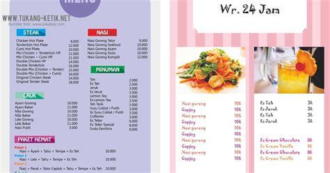 desain menu makanan  minuman flat coreldraw gratis