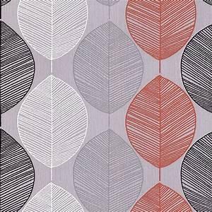 Arthouse **Sample** Options Retro Leaf Wallpaper Orange ...
