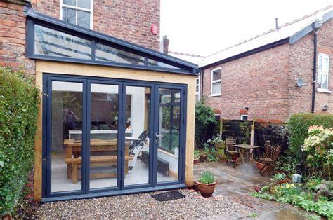 Kitchen Extension, oak frame construction, modern style