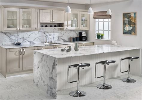 kitchen worktops design ideas marble effect worktops white and contemporary 6579