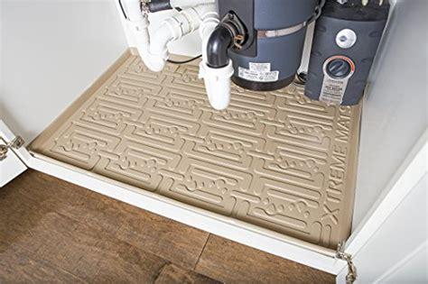 under sink cabinet mat xtreme mats under sink kitchen cabinet mat 33 3 8 x 21 1