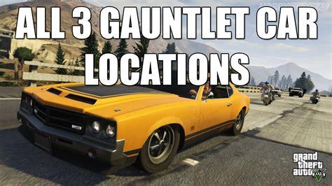 All 3 Gauntlet Car Locations